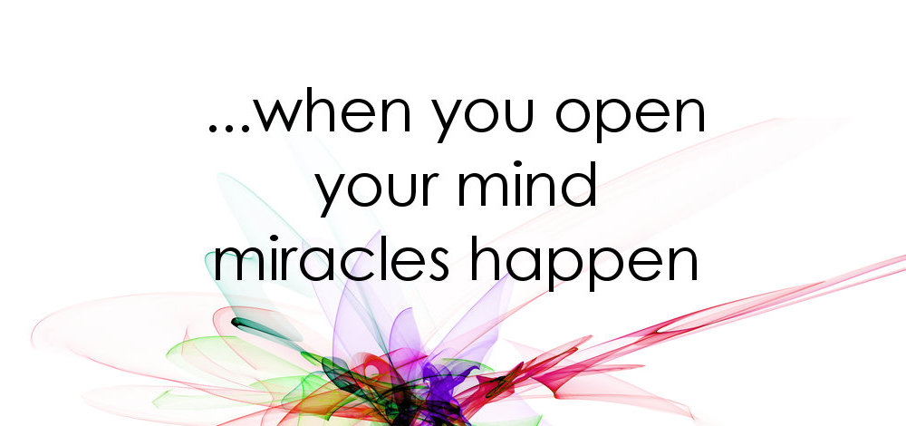 When you open your mind during counselling miracles happen..